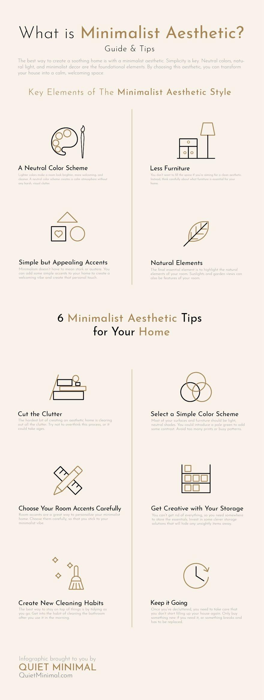 What is minimalist aesthetic