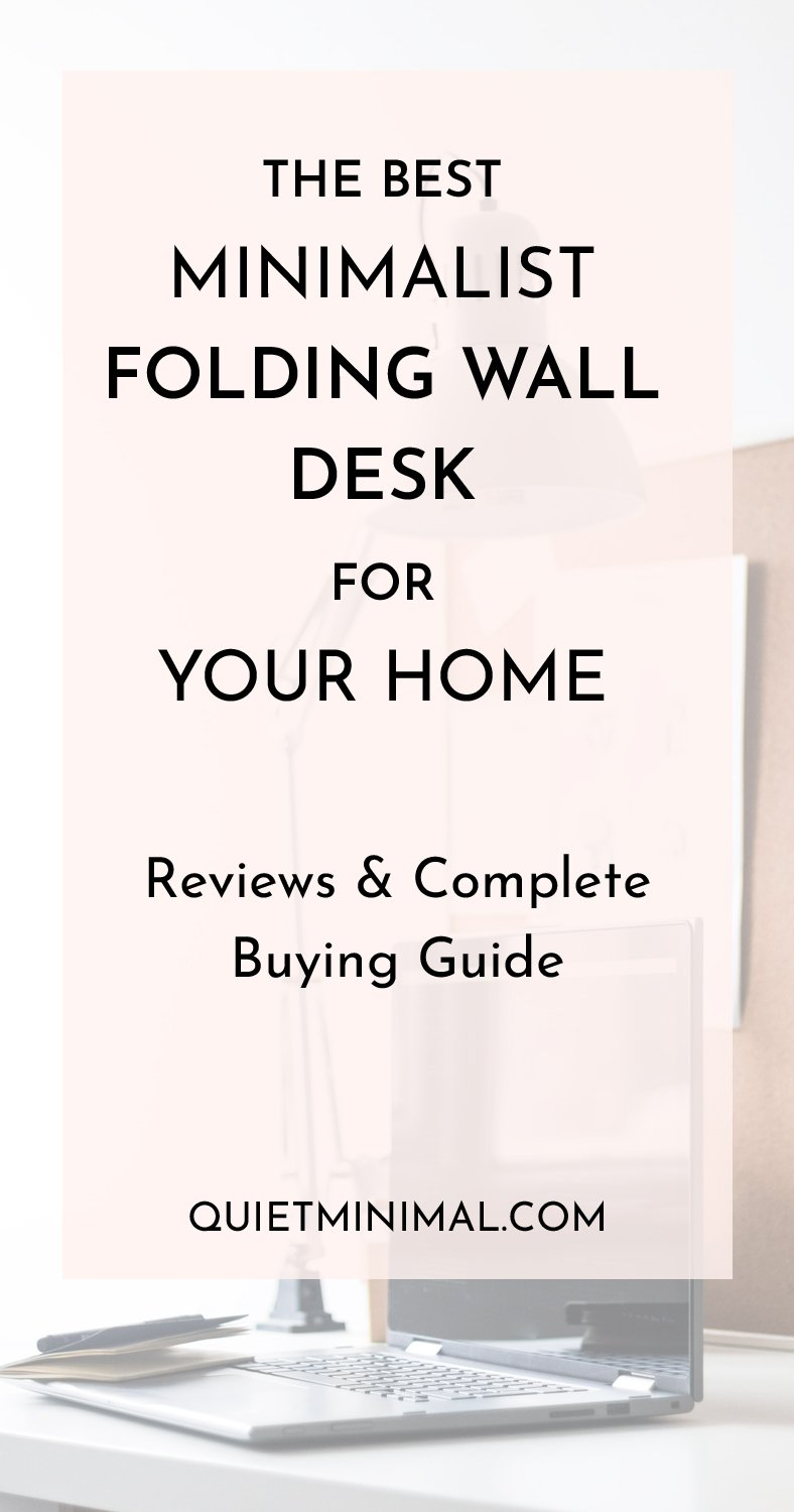 If you have a smaller home, you might not have space for a full work desk and chair. Or maybe you want to avoid cluttering your minimalist home with bulky furniture. Then, you need a folding wall desk! #folding wall desk, #wall mounted desk, #wall mounted computer desk, #wall desk, #fold down desk, #wall mounted folding desk, #fold up wall desks, #wall mounted adjustable standing desk, #floating desk,