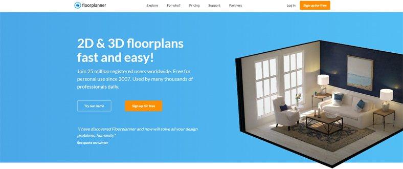 Floorplanner  - Best Software for Interior Designing - Free