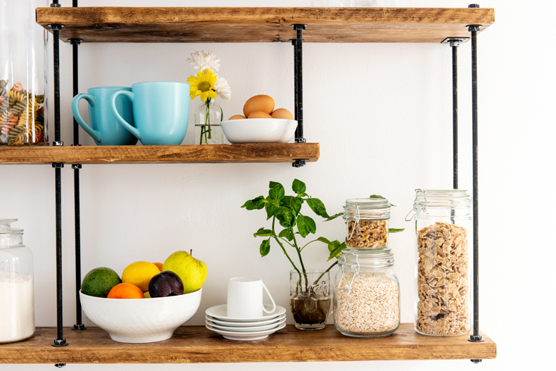 Use Space Risers in Your Cabinets