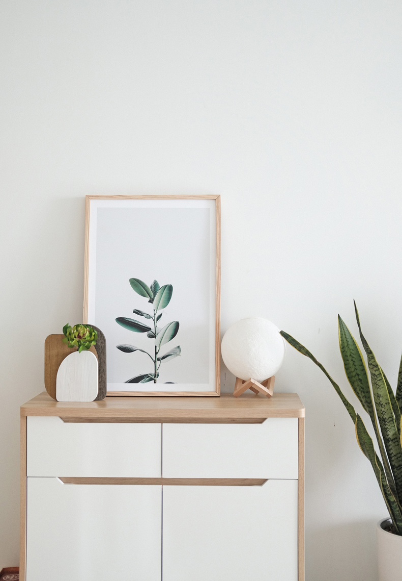 Creating a cozy minimalist home, add some personal touches