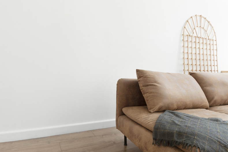 Creating a cozy minimalist home, sprinkle in accent pieces